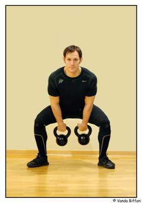 Two kettlebell swing