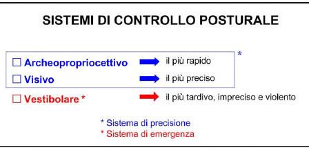 Sistemi di controllo posturale