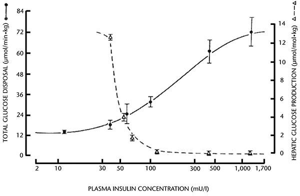 Influenza dell'insulina sulla produzione epatica di <a href=