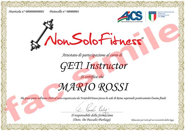 diploma corso GET! Instructor