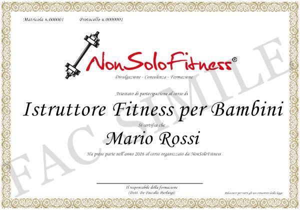 diploma Istruttore Fitness per Bambini