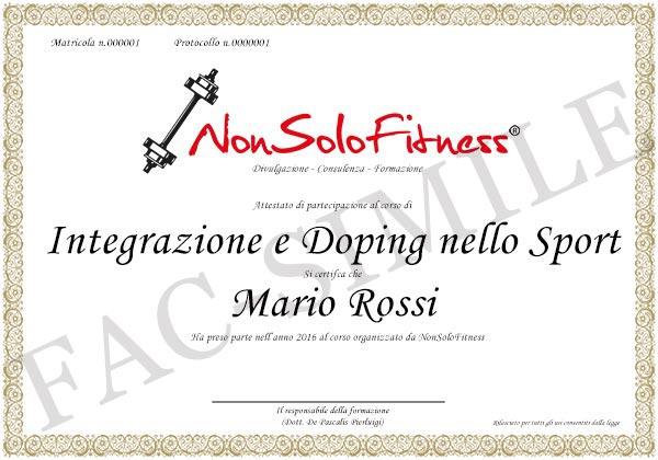 diploma Integrazione e Doping nello Sport