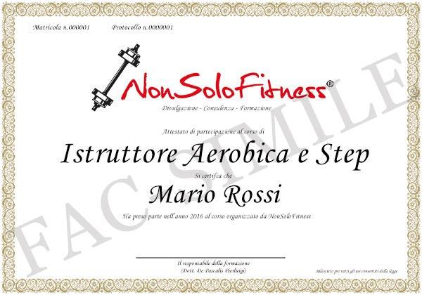 diploma Istruttore Aerobica e Step