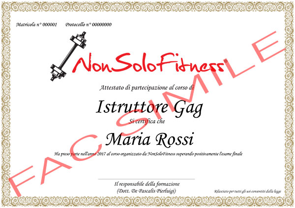 diploma Istruttore GAG