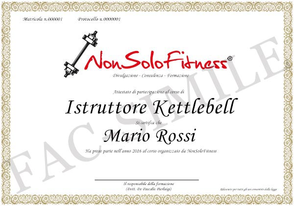 diploma Istruttore Kettlebell
