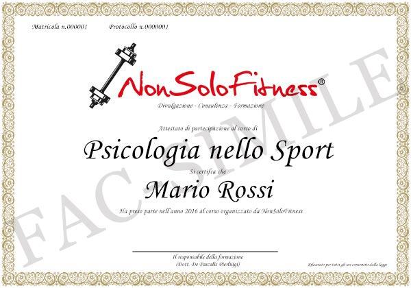 diploma Psicologia dello Sport
