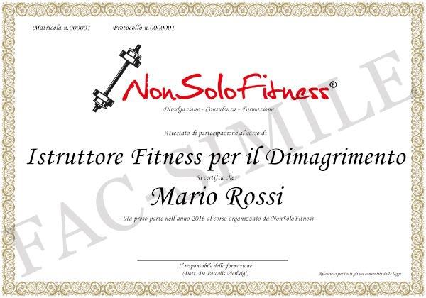 diploma Istruttore Fitness per il Dimagrimento