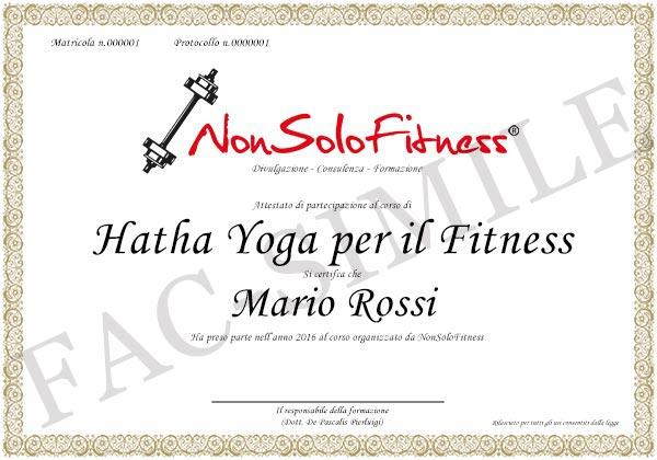 diploma Hatha Yoga per il Fitness