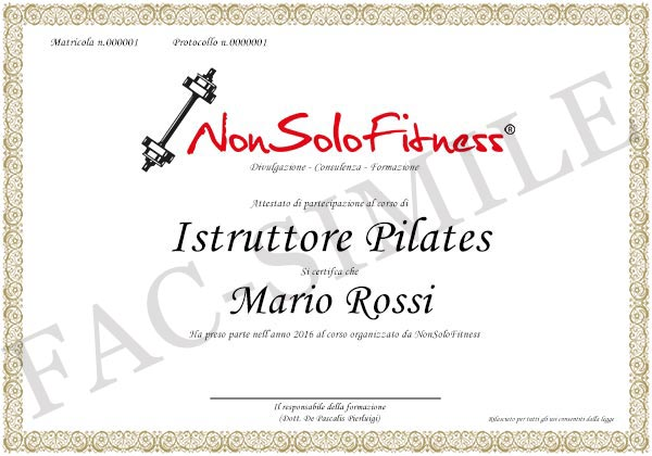 diploma Istruttore Pilates