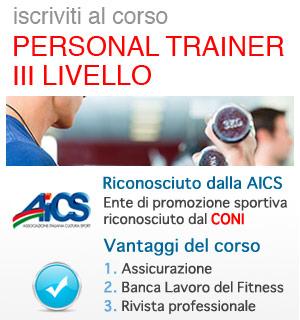 Corso Personal Trainer III livello AICS - CONI